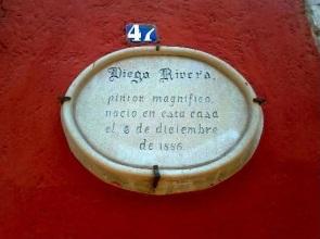 Address plaque, Casa Diego Rivera, Guanajuato