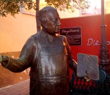 Bronze of Diego, Casa Diego Rivera, Guanajuato
