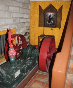 Antique engine on display