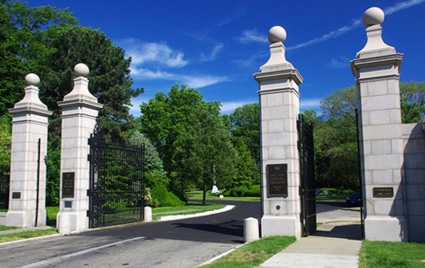 Euclid Avenue gate, Lakeview Cemetery, Cleveland