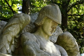 Gravesite statuary, Lakeview Cemetery, Cleveland