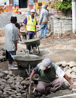 Street renovation, Ajijic, Jalisco