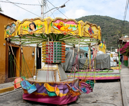 Kiddie ride on Calle Colón, Ajijic, Jalisco