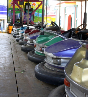 Bumper car parking lot,  Ajijic Plaza, Jalisco