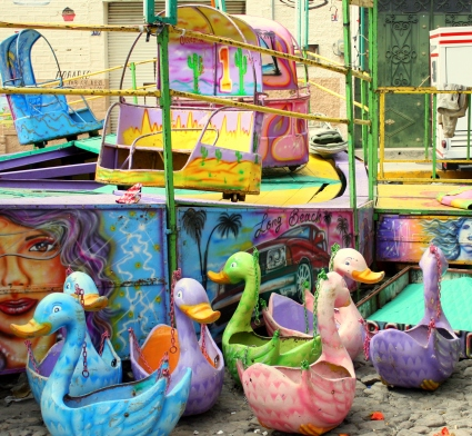 Ducky seats awaiting assembly, Calle Colón, Ajijic, Jalisco