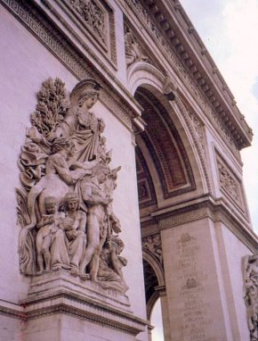 Bas-relief on the Arc de Triomphe