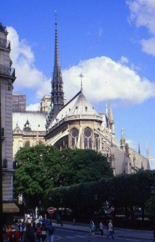 Rear view of Notre-Dame Cathedral