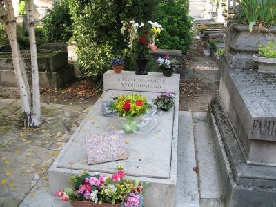 Grave of Yves Montand and Simone Signoret