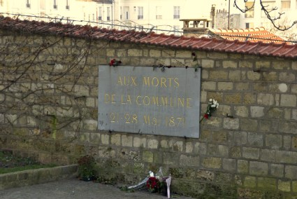 Communards' wall, Père Lachaise cemetery