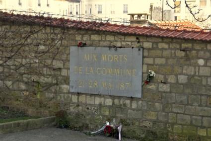 Communards' wall, Père Lachaise cemetery