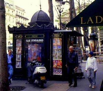 Kiosk newsstand, Paris