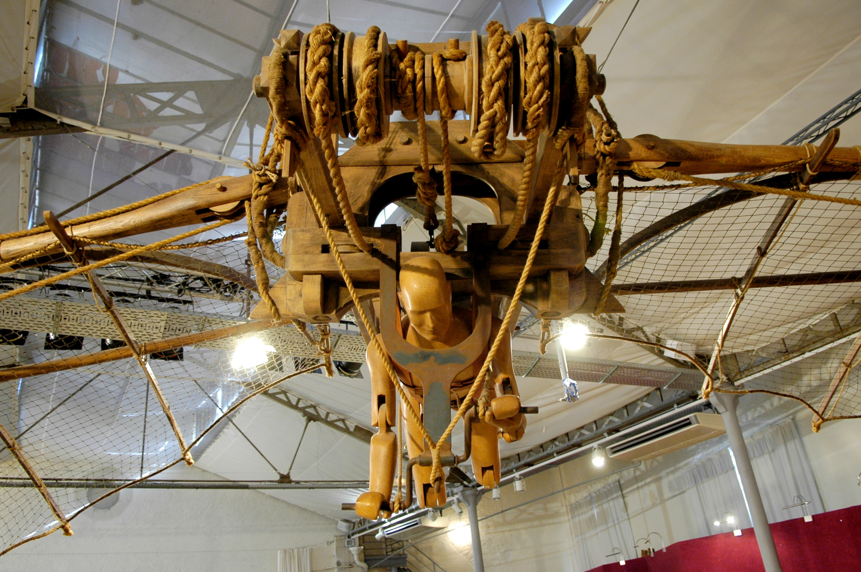 Model of Leonardo's airplane at Château du Clos Lucé