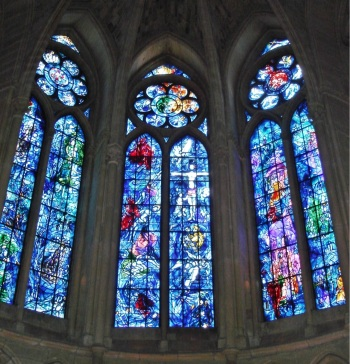 Chagall windows, Cathedral of Notre-Dame de Reims