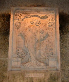 Bas-relief of Louise Pommery, Chateau Pommery cellar, Reims