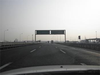 E-64 autostrada, eastbound from Milano, Italy