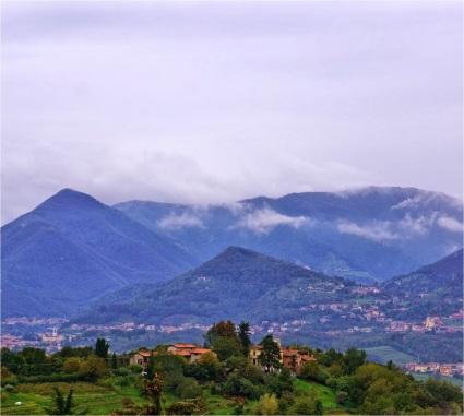 Alps seen from near Bergamo, Italy