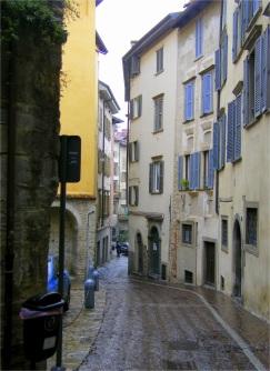 Street in the Citta' Alta, Bergamo, Italy