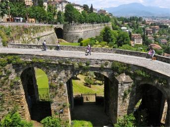 Entrance to the Citta' Alta, Bergamo, Italy