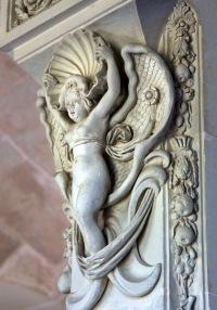 Angelic sculpture, Château de Cheverny