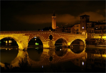 Castelvechio bridge,  Verona, Italy