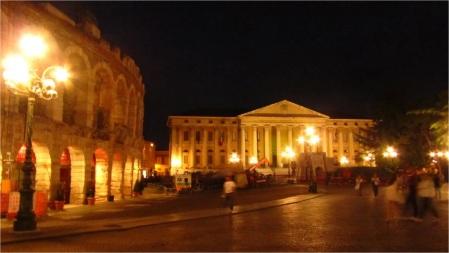 Piazza Bra (Arena at left), Verona, Italy