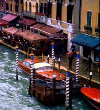 Classic wooden boats, Venice