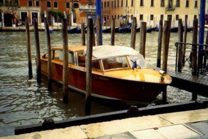 Classic wooden boat, Venice