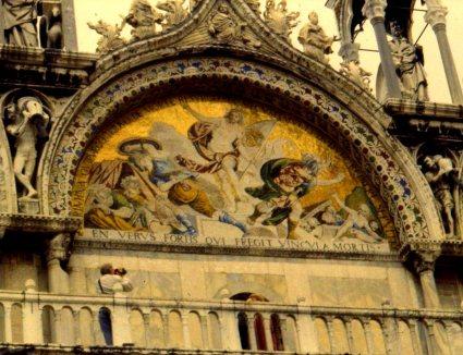 Facade detail, Basilica San Marcos, Venice, Italy