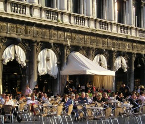 Caffè Florian (founded 1720), Piazza San Marco, Venice, Italy