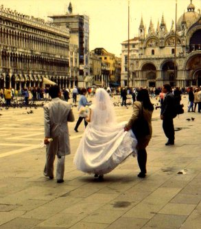 Wedding party, Piazza San Marco, Venice, Italy