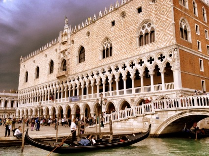 Doge's Palace and Grand Canal, Venice, Italy