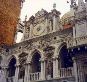 Senators' courtyard, Doge's Palace, Venice, Italy