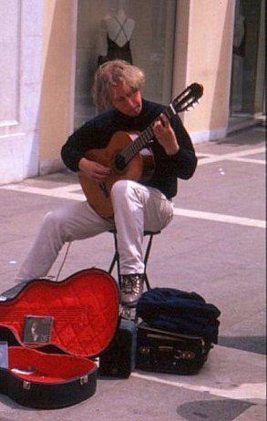 Street musician, Padua, Italy