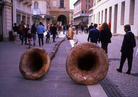 Wooden sculpture, Padua, Italy
