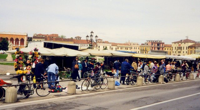 Going to market, Padua, Italy