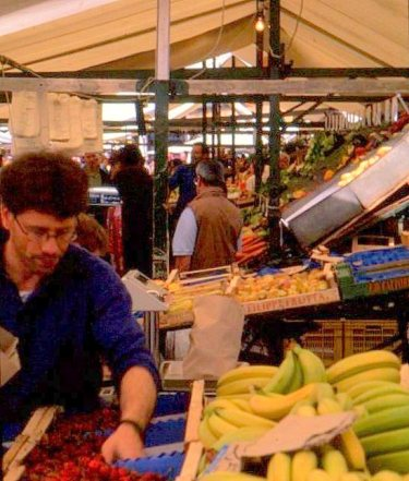 Piazza market, Padua, Italy