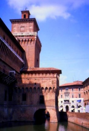 Tower of the Castello Estense,  Ferrara, Italy