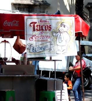 Barbacoa (barbecue) taco stand in Guadalajara's Parque Revolución.