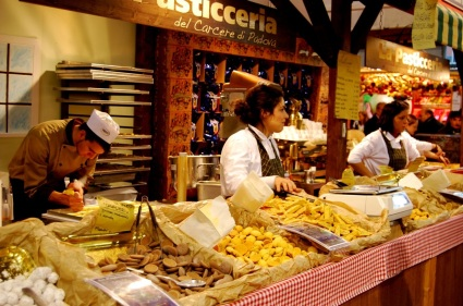 Pasta artisans at work, Bologna, Italy.