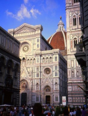 Duomo and facade, Florence, Italy.