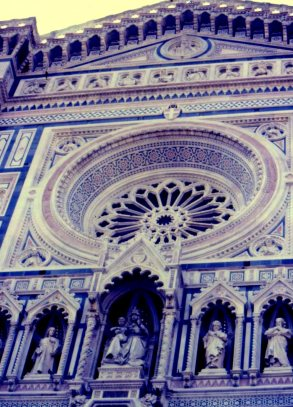 Duomo facade, Florence, Italy.