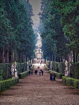 The Grand Boulevard entrance to the Boboli Gardens, Florence, Italy.