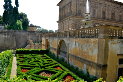 Pitt Palace with formal garden, Florence, Italy.