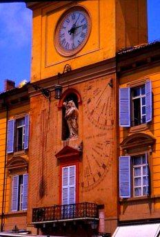 Astronomical clock, Palazzo del Governatore, Parma, Italy.