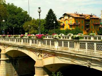 Bridge over the Torrente Parma, Italy.