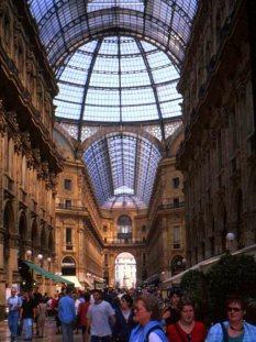 Interior, Galleria Vittorio Emanuele II, Milano. Italy.