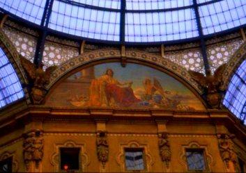 Interior detail, Galleria Vittorio Emanuele II, Milano, Italy.