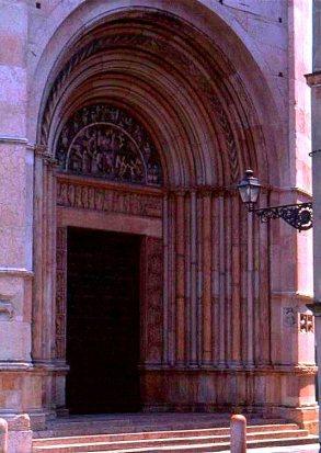 Baptistry entrance, Milano. Italy.