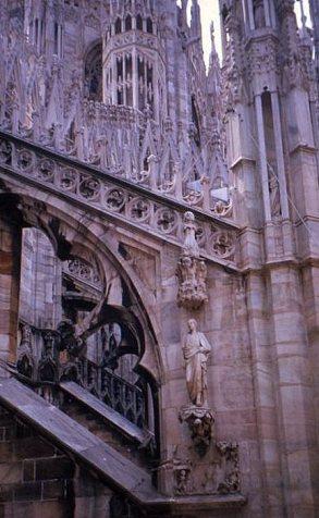Facade detail, Duomo, Milano. Italy.