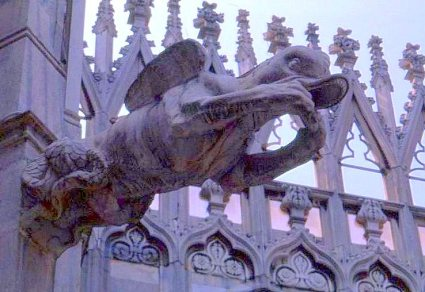 Gargoyle, Duomo, Milano. Italy.